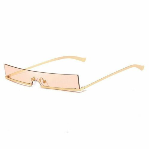 Rectangle Sunglasses Red Black Clear Lens Metal Frames Sun Glasses Trend