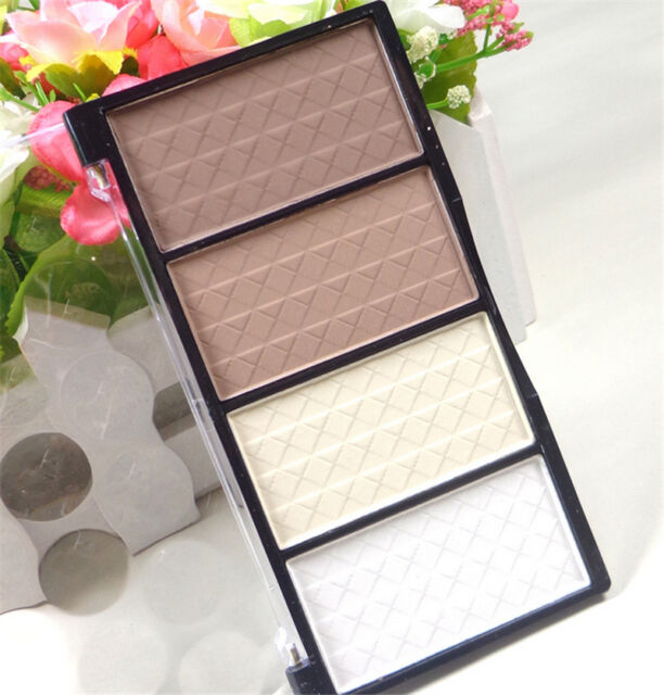 New 4 Colors Pressed Powder Highlight Contour Shading Powder Bronzer Cosmetic SH