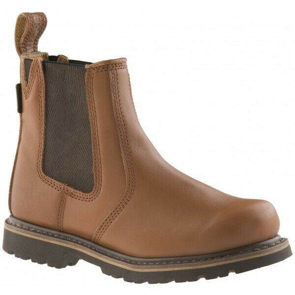Buckbootz B1100 Buckflex Non-Safety Dealer Boots Sundance Tan (Size 9)
