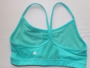 66eb49f405 LULULEMON FLOW Y BRA IV Racerback Teal Green Blue size 6 Gym Yoga ...