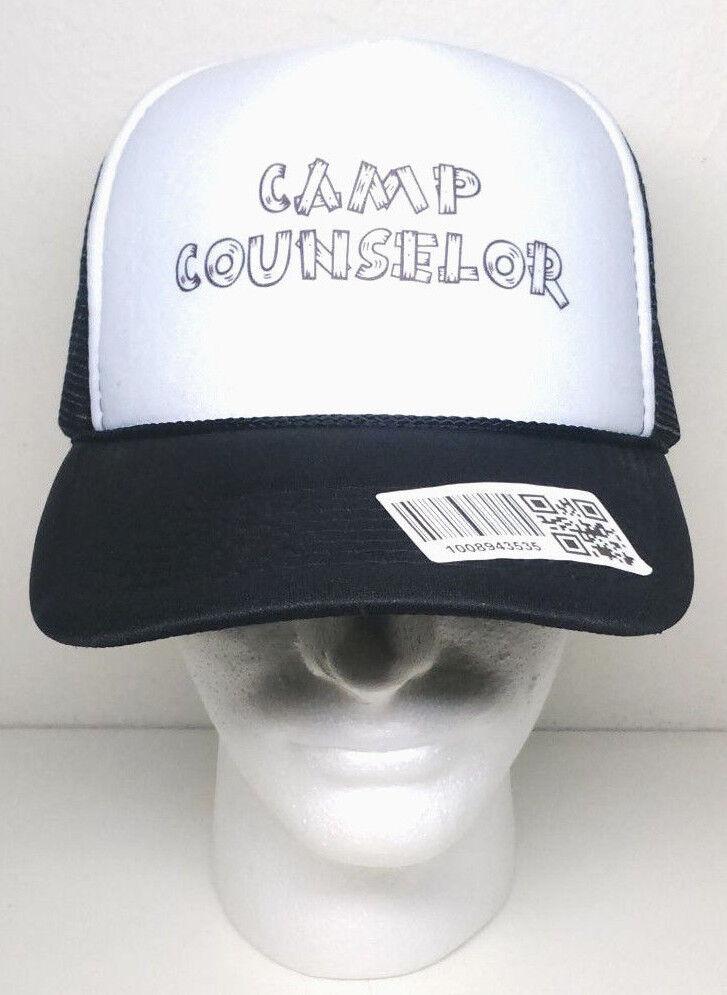 NEW - CAMP COUNSELOR Mesh Trucker Black OTTO Hat Snapback Cap Black Trucker White Brown NWT e8f625