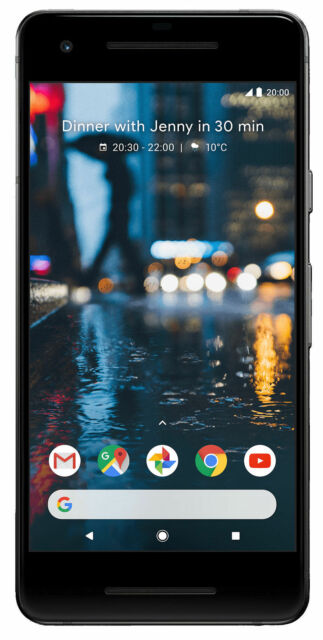 OPENBOX NEW Google Pixel 2 - 64GB - Just Black (Unlocked) Smartphone. OEM EXTRAS