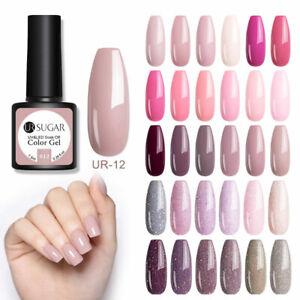 UR-SUGAR-Mauve-Pink-UV-Gel-Nail-Polish-Glitter-Soak-Off-Party-Gel-Varnish-7-5ml