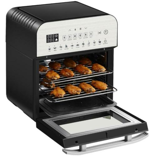 GoWISE USA Electric Air Fryer Oven Ultra 1600-Watts Rotisserie Dehydrator Alarm