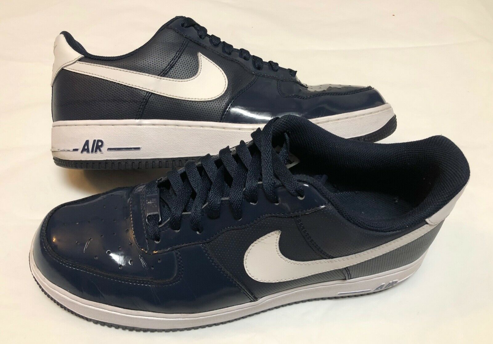 Nike Air Force 1 Navy bluee Size 12 Leather Patent Leather Classic Athletic shoes