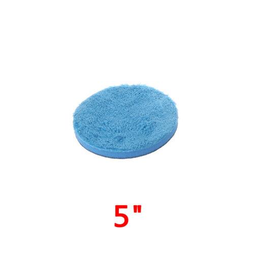 1x Car Microfiber Buff Polishing Plated Pad High Quality For Rotary DA Polishers