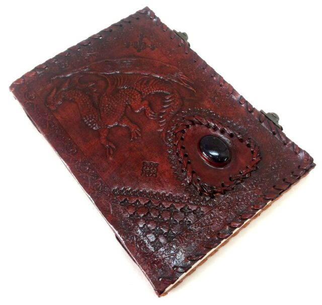 Firu Leather Diary - Dragon Handmade Paper Engraved Blank Leather Bound Journal