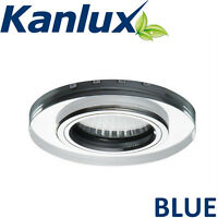 8x Soren Mains Fixed Led Recessed Downlight Ceiling Spotlight Gu10 2 Tone Blue