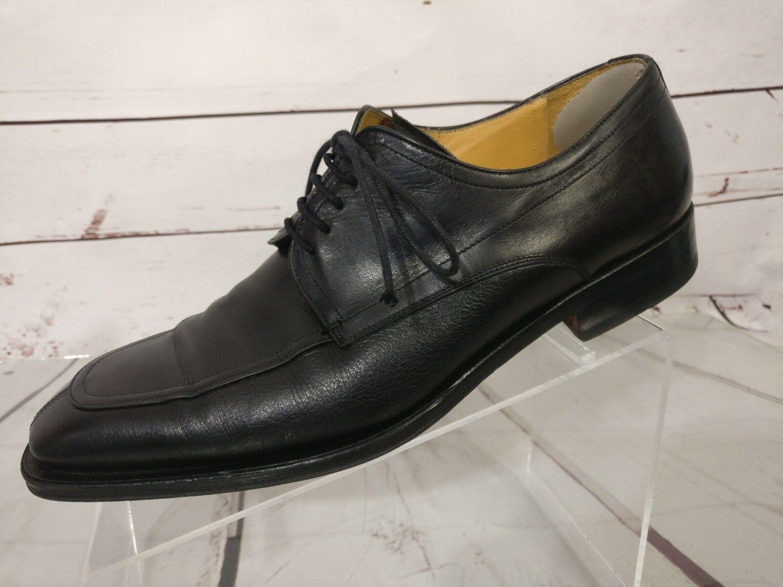 MEZLAN NOCi Black Leather Split Toe Dress Oxfords M Shoes MENS US 8.5 M Oxfords 27465 f2c7bb