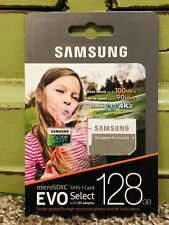 Samsung EVO Select 128GB Class 10 MicroSDXC Memory Card with Adapter - (MB-ME128GA/AM)