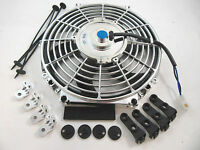 14 Chrome S-blade Electric Radiator Cooling Fan Universal W/ Mounting 1750 Cfm