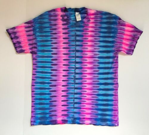 Sm Pink Lava Bands Tie Dye *New* Handmade Blue Long Or Short Sleeve 4XL
