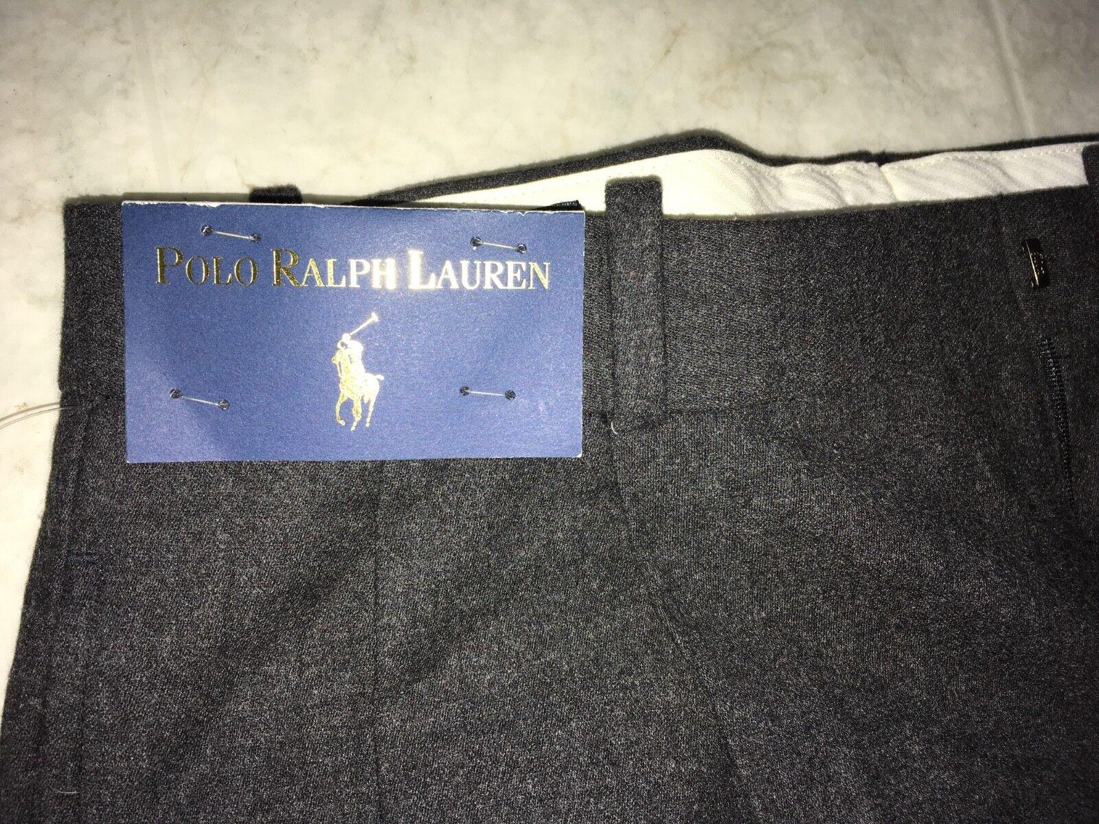 Polo Ralph Lauren Men 32x31 Navy Bred Wool Pants New