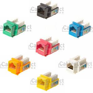 cat5e keystone jack connector network ethernet 8p8c rj45. Black Bedroom Furniture Sets. Home Design Ideas
