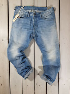 Rrp-163-Nuovo-Jeans-Diesel-Uomo-Belther-0827F-Regular-Slim-Tapered-Stonewashed