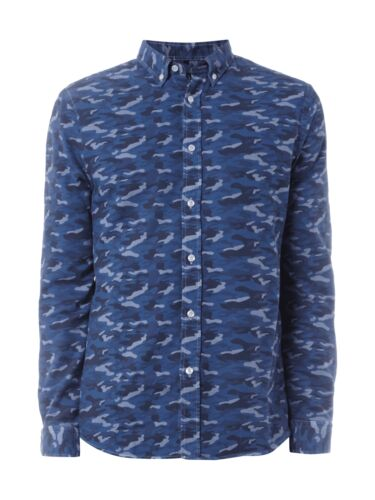 Paul roses Men Bûcheron avec de camouflage Messieurs cityhemd bleu marine
