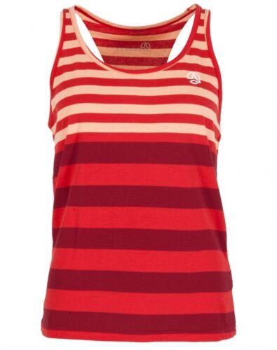 UVP 34,95€ Ternua YUHA SHIRT Damen Tanktop Ibicus Red Stripes