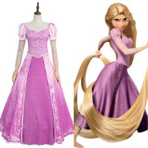 Disney Entremele Princesse Raiponce Cosplay Costume Outfit Robe De Soiree Robe De Tenue Ebay