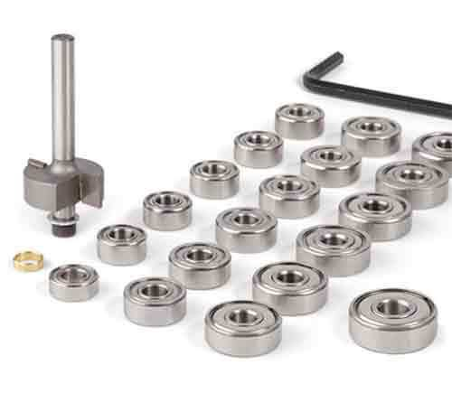 Guitar Binding Router Bit with 19 Bearing Set for Luthier