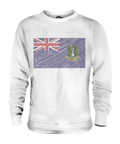 Islands Virgin Bandiera Uk Scarabocchiato Regalo Unisex Maglione S6q05O
