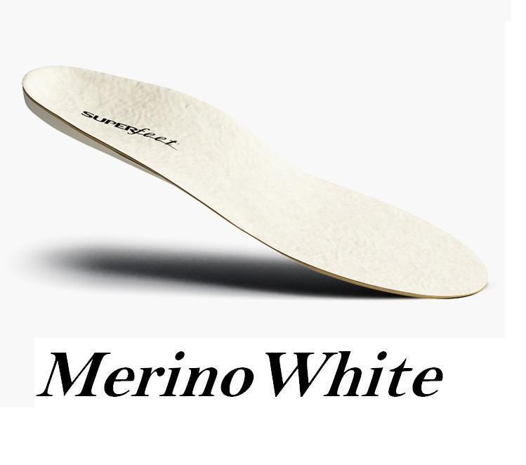 Superfeet Merino Weiß Premium Wolle Einlegesohle Komfort Unterfuß Stütze Winter