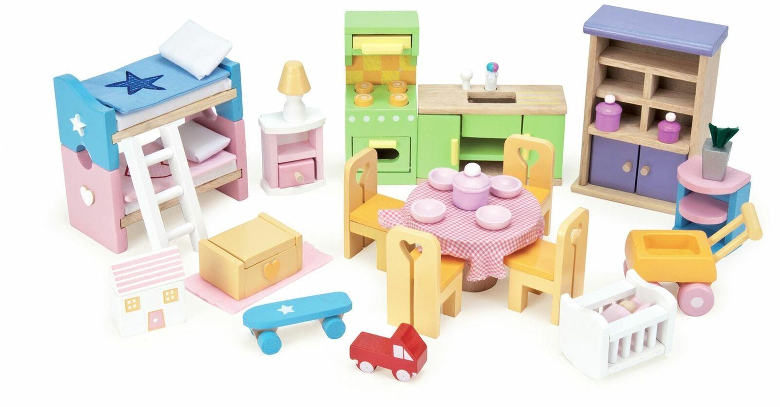 Le giocattolo Van bambola House estrellater Set  di mobili in legno giocattolo BN  vendita outlet