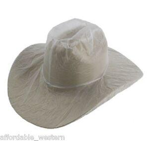 Vinyl-5-034-Brim-HAT-RAINCOVER-Western-Cowboy-Rain-Cover-Protector-Oversized