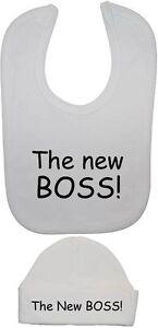 8985d234223 The New Boss Baby Feeding Bib   Beanie Hat Cap Newborn-12 Months ...
