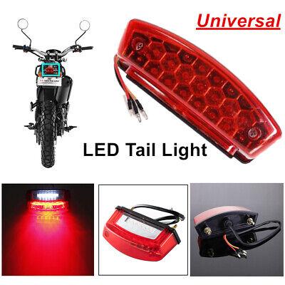 Motorcycle 15 LED Red Light Brake Light Scooter ATV Dirt Bike Rear Tail Lights
