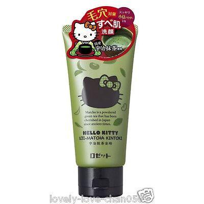 ROSETTE Hello Kitty Uji-Matcha Green Tea Kintoki Face Wash 120g Japan