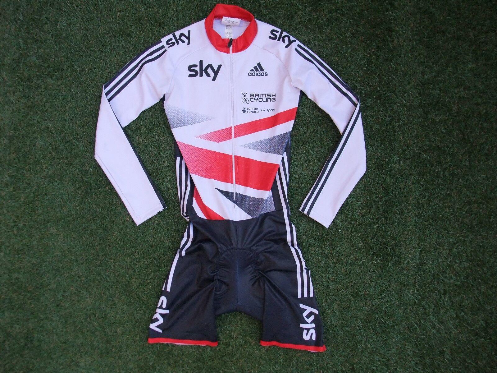 Team GB Británico Ciclismo Adidas cielo Issue  Acolchado Traje De Piel De Velocidad Ls Aero  Small  garantía de crédito