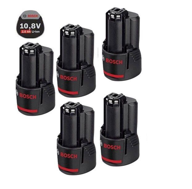 Bosch 5 Stück Original Akku 10,8 Volt Li-ION, 2,0 Ah GSR GDR GWI GLI