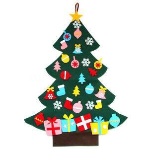 Felt Christmas Decorations Uk.Details About 3ft Felt Wall Hanging Christmas Tree Set With Ornaments Xmas Door Wall Decor Uk