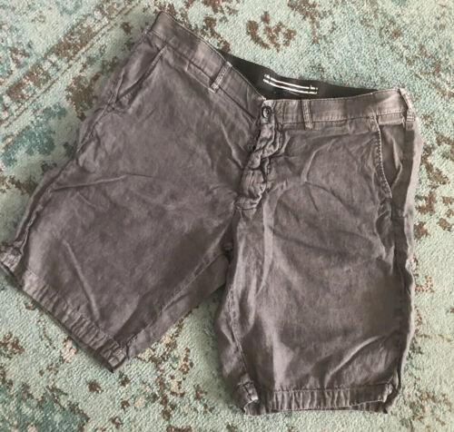 Stone Island Grey / Charcoal Lino Flax Linen Bermu