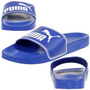 Image is loading Puma-Leadcat-Unisex-Adult-Sandals-Bath-Slippers-Blue b557038ca