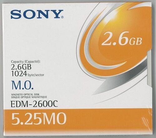 SONY EDM-2600CWW 2.6GB R//W OPTICAL DISKS EDM2600C MO 5 PACK NEW