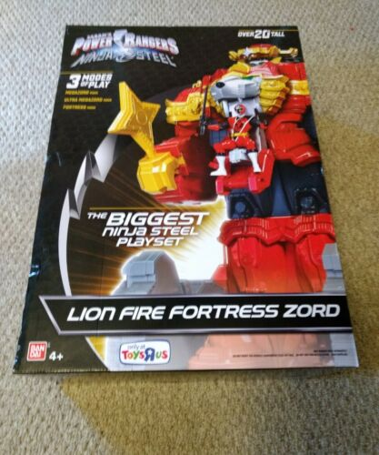 "Toys R Us exclusive Power Rangers 20/"" Ninja acier lion feu forteresse Zord Neuf dans sa boîte"