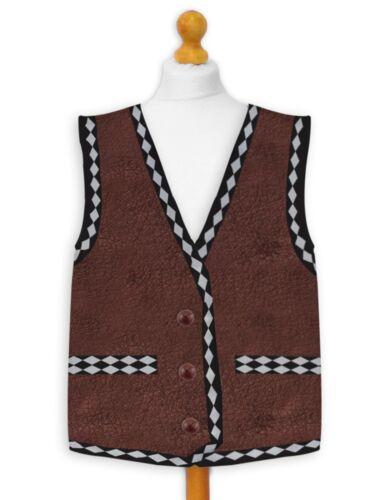 Novelty Waistcoat Personalised Warriors Design Fancy Dress Stag Party Biker
