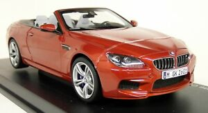Paragon-1-18-Scale-BMW-M6-Convertible-F12-Sakhir-Orange-Diecast-Model-Car