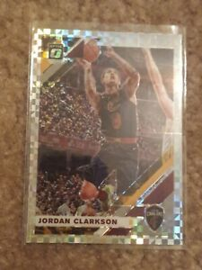 2019-20 Donruss Optic Jordan Clarkson CHECKERBOARD Prizm Card, Cavaliers, RARE!