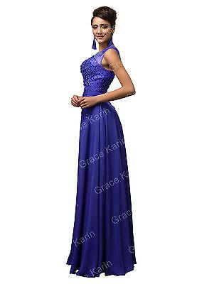 Lang Abend-Cocktail-Party-AbschlussballKleid Ballkleid Brautjungfernkleid 32+54