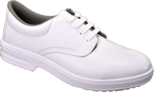 Tuffking 9211 White Ladies Microfibre Steel Toe Food Safe Uniform Safety Shoes
