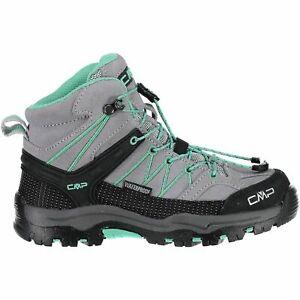 Distingué Cmp Trekking Chaussures Outdoorschuh Kids Rigel Mid Trekking Shoes Wp Gris Clair-afficher Le Titre D'origine