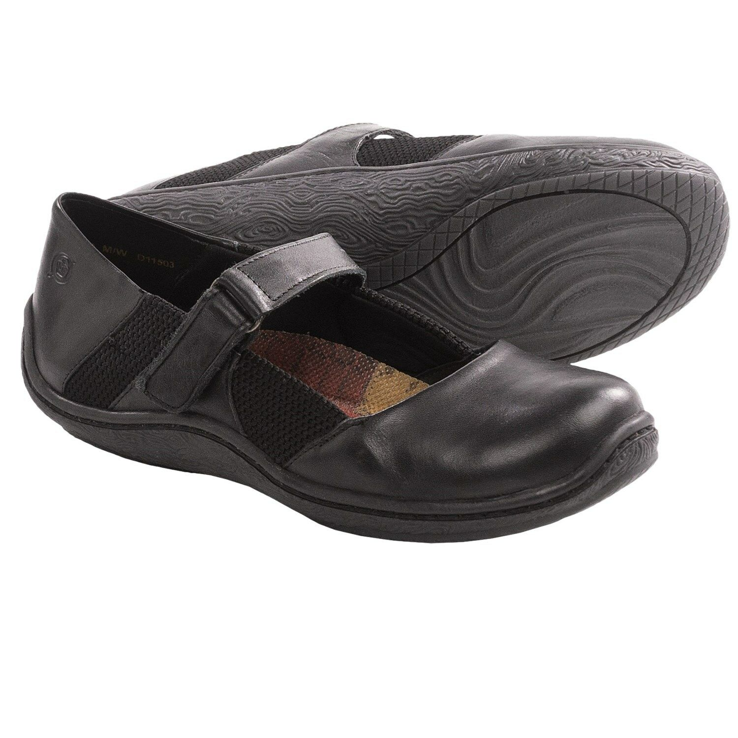 Neuf Born Femmes Connie Mary Jane Ballerines Chaussure Blk D11503 Taille 8 39