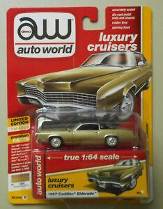1967-Cadillac-Eldorado-Baroque-Gold-AUTO-WORLD-DIE-CAST-1-64-CAR-w-BOX