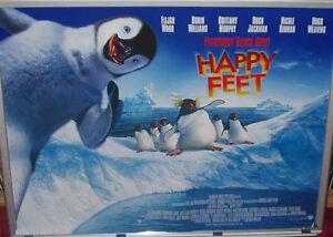 Cinema Poster Happy Feet 2006 Main Quad Robin Williams Ebay