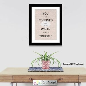 Motivational life Quotes Typography A4 Photo Poster Print ONLY Wall Art