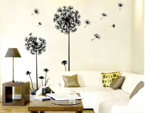 Creative Dandelion Flowers Wall Art Decal Stickers DIY Home Living Room-Decor JI