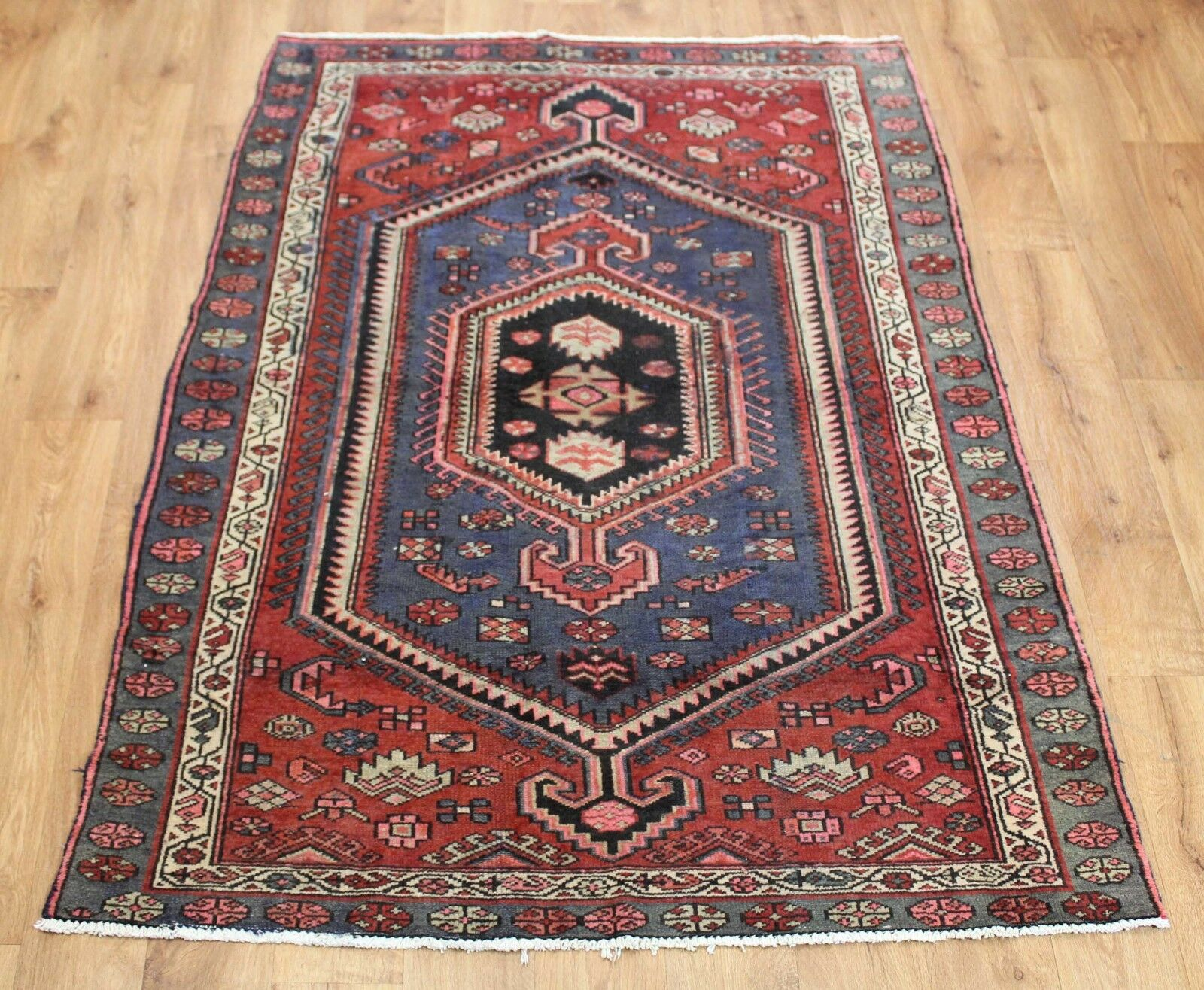 Traditional Vintage Wool Handmade Classic Oriental Area Rug Carpet 210 210 210 X 125 cm 30c3f0