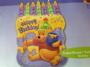 Surprising Disney Supershape Winnie The Pooh Happy Birthday Cake Foil Balloon Funny Birthday Cards Online Alyptdamsfinfo